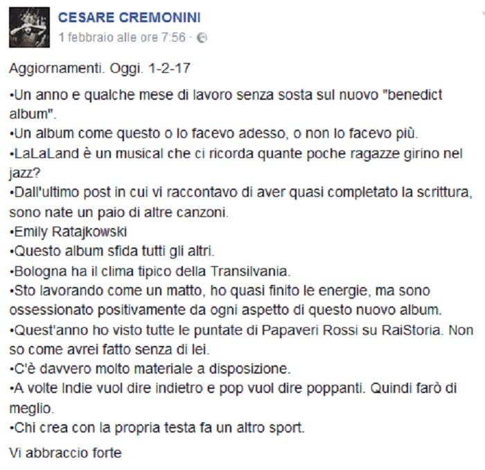 Cesare Cremonini post 1