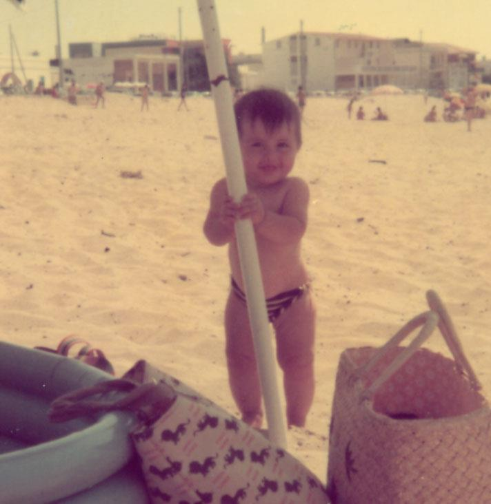 Io al mare in Puglia nel 1976
