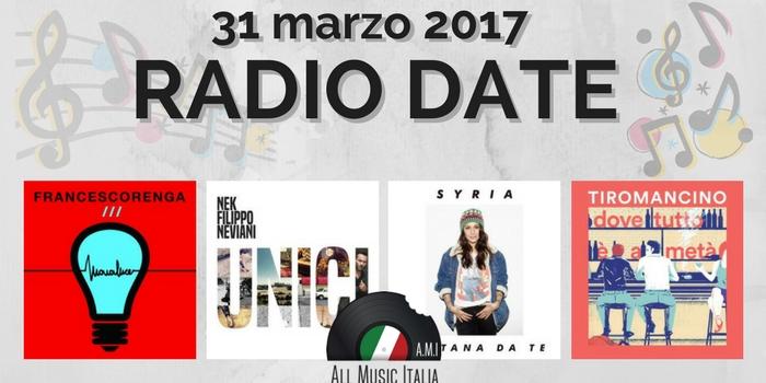 radio date 31 marzo