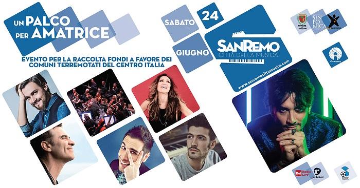 Sanremo - un palco per Amatrice