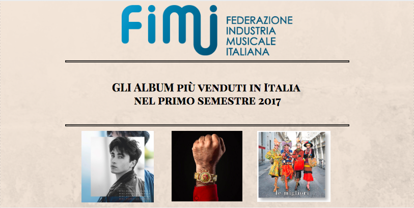 classifica fimi vendita