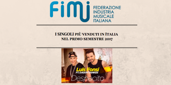 classifica fimi singoli