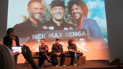 MAX PEZZALI, NEK e FRANCESCO RENGA
