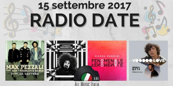 radio date 15 settembre 2017