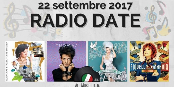 radio date 22 settembre 2017