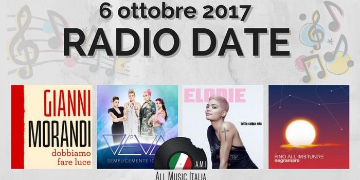 radio date 6 ottobre 2017