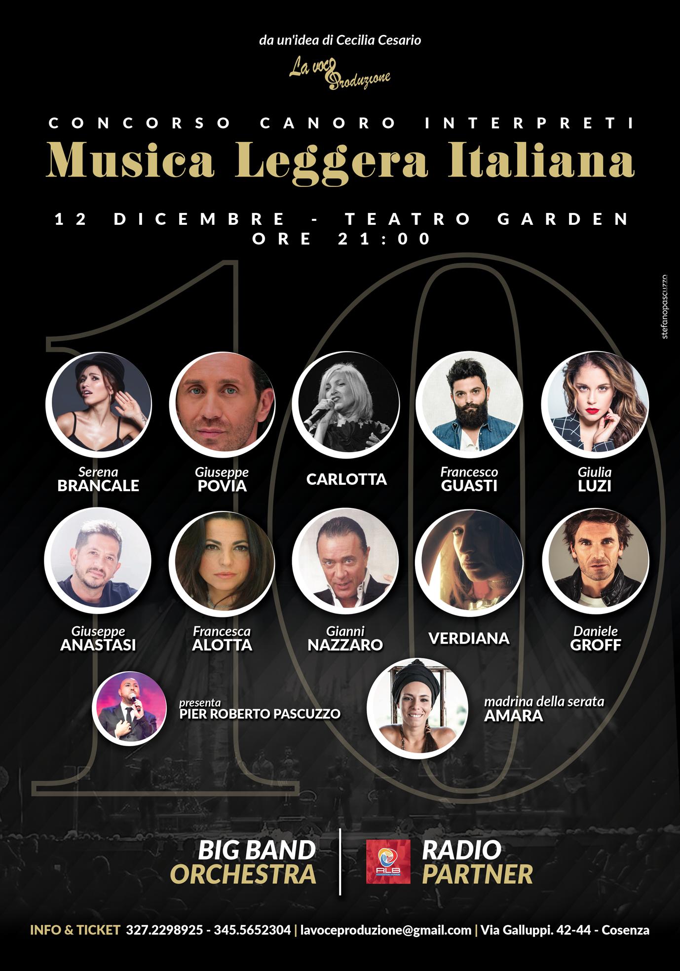 Concorso Canoro Interpreti Musica Leggera italiana