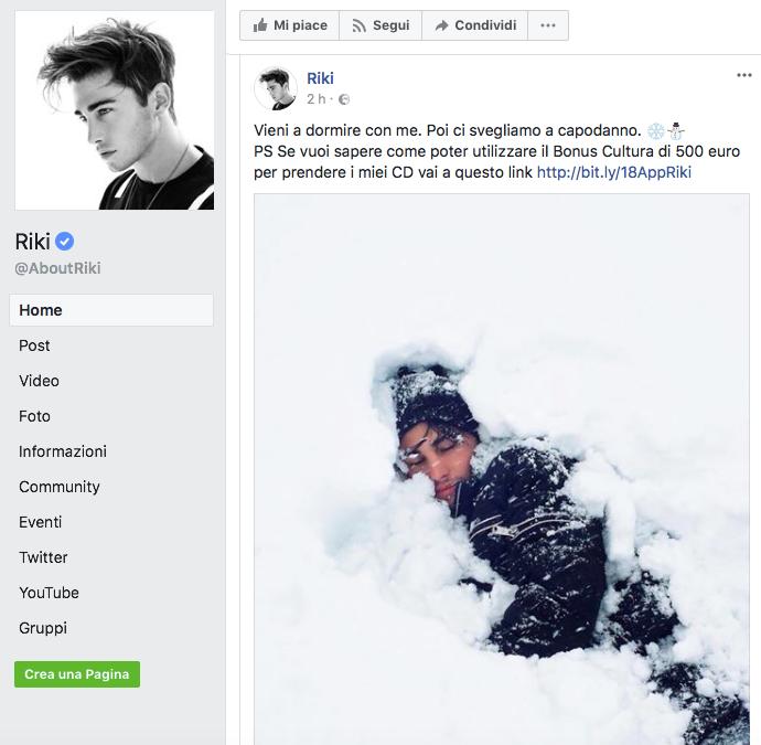 riki bonus cultura facebook