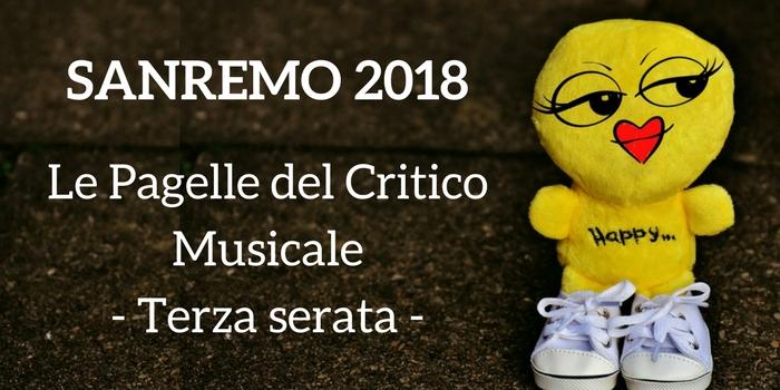 Sanremo 2018 terza serata