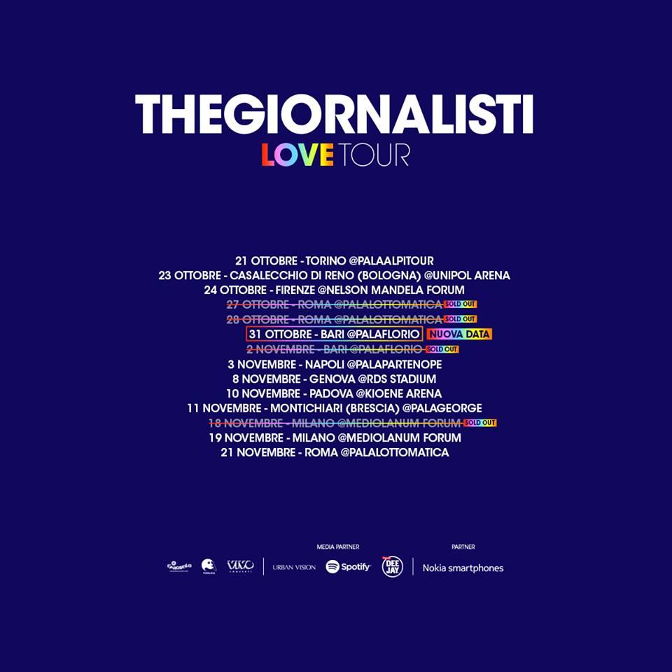TheGiornalisti - Tour