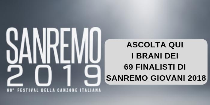 Sanremo giovani 2018