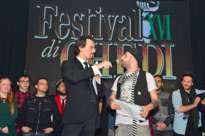 Il presentatore Alex Rusconi con il Direttore di All Music Italia Massimiliano Longo