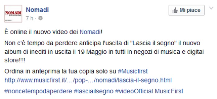 Nomadi-Facebook-Nuovo-Video