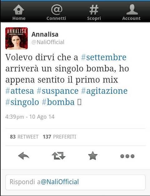 Annalisa su Twitter