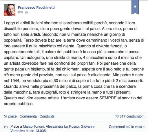 Facebook Facchinetti