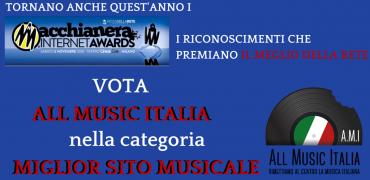 MACCHIANERA AWARDS 2016: vota ALL MUSIC ITALIA come miglior sito musicale