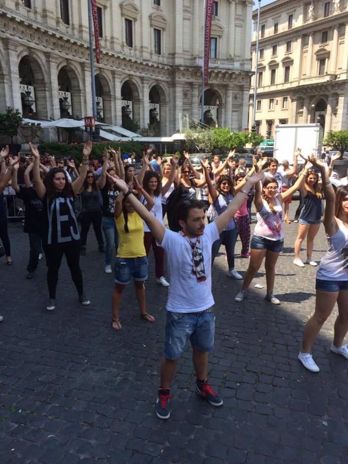 #SIMILIDAY flashmob Roma